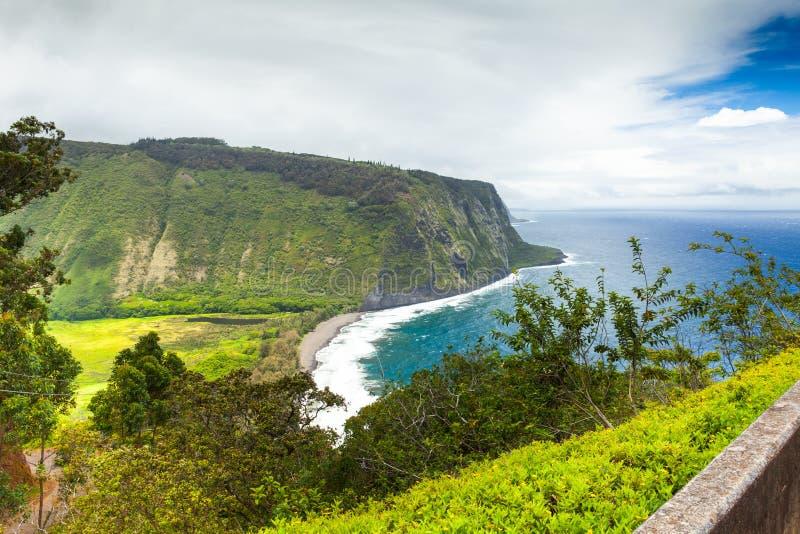 Взгляд большого острова Гаваи панорамный прибрежный стоковое изображение