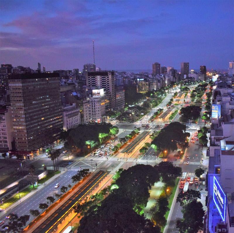 Взгляд Буэноса-Айрес, Аргентины, восемнадцатого из февраля 2017 стоковые изображения rf