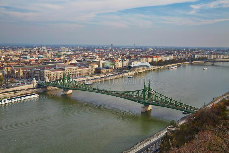 Взгляд Будапешта городской стоковые фотографии rf