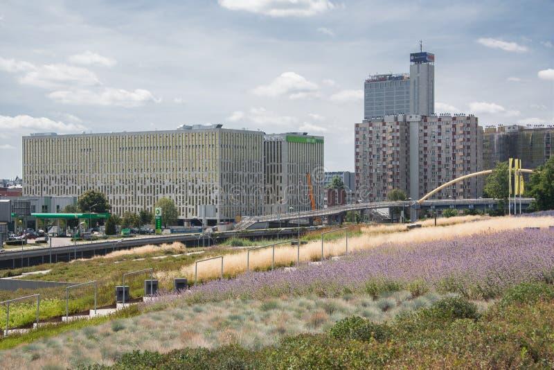 Взгляд бульвара Rozdzienskiego в Катовице, Польше стоковые изображения rf
