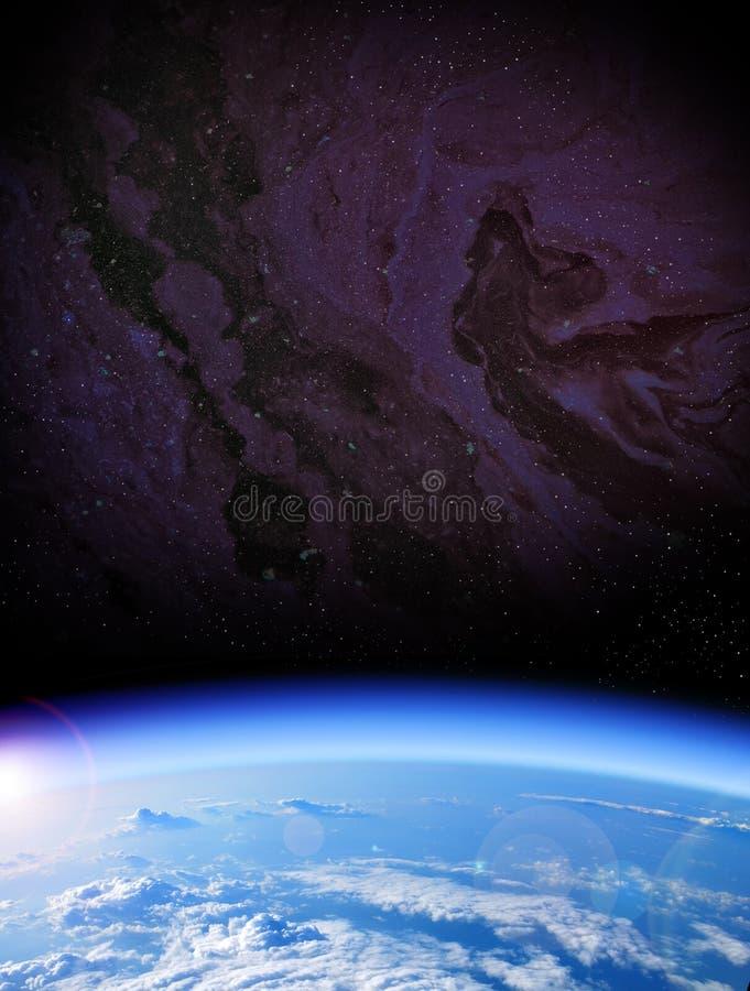 взгляд вектора космоса иллюстрации земли стоковое изображение