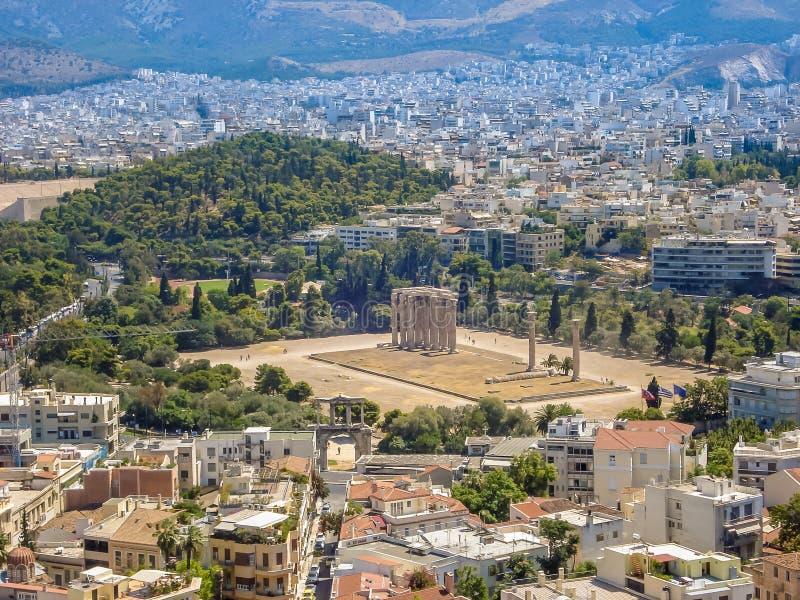 Взгляд виска Зевса олимпийца стоковое изображение rf