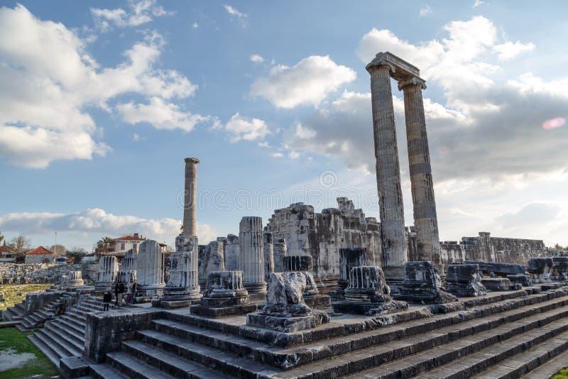 Взгляд виска Apollon стоковые изображения