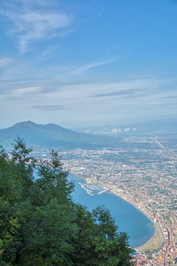 Взгляд воздуха Vesuvius стоковые изображения rf