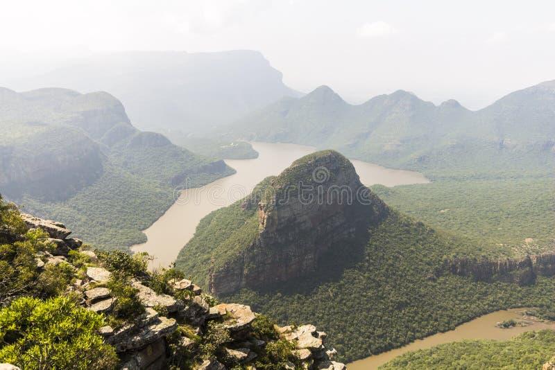 Взгляд всего ландшафта каньона реки Blyde, Южная Африка стоковые фото