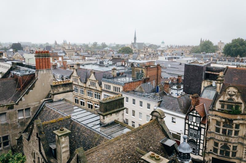 Взгляд высокого угла европейского города стоковые фотографии rf