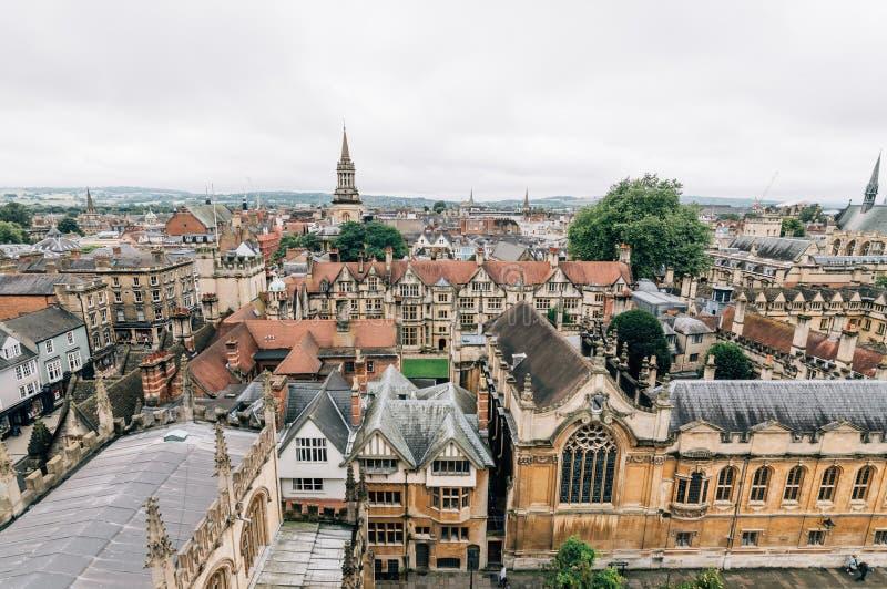 Взгляд высокого угла Оксфорда стоковое фото rf