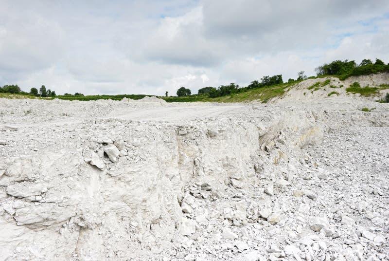 Взгляд в шахту мела карьер стоковое фото rf
