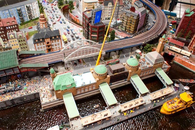 Взгляд Гамбурга в миниатюре стоковые изображения rf
