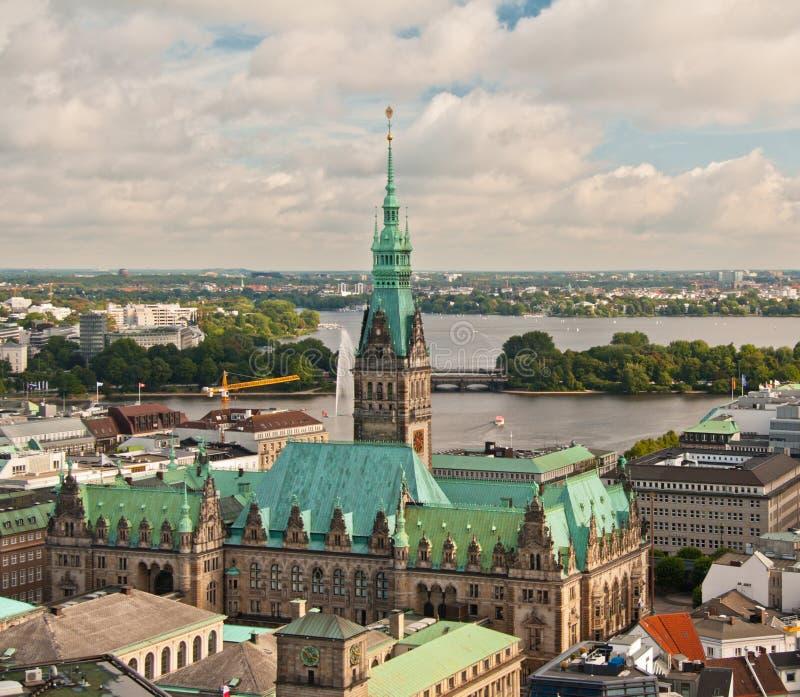 Взгляд Гамбурга стоковое фото
