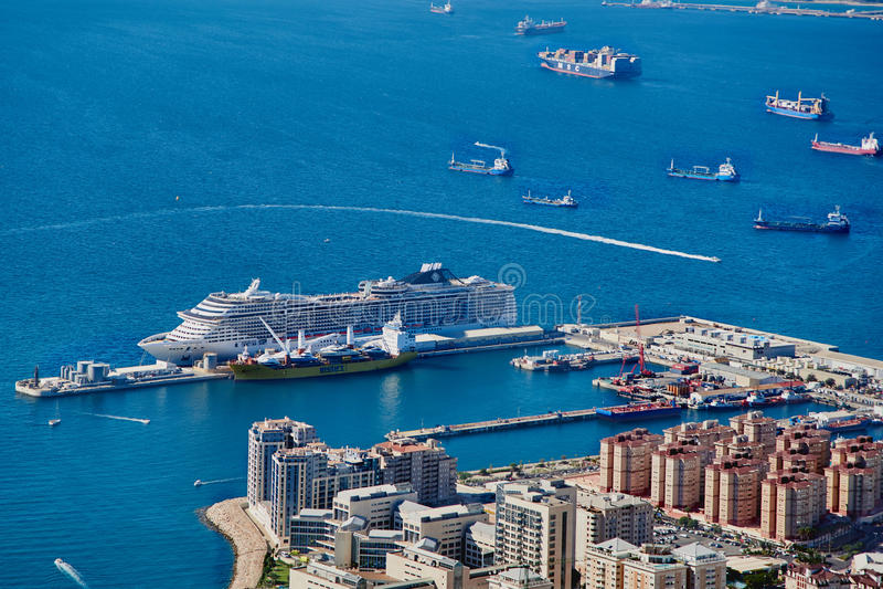 взгляд Гибралтара панорамный стоковое фото rf