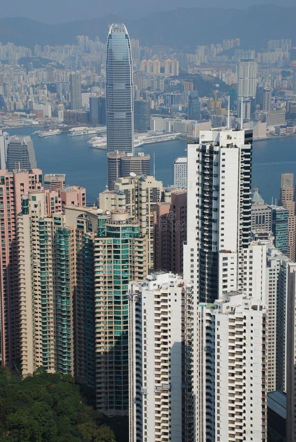 Взгляд Гонконга от пика Виктории стоковая фотография rf