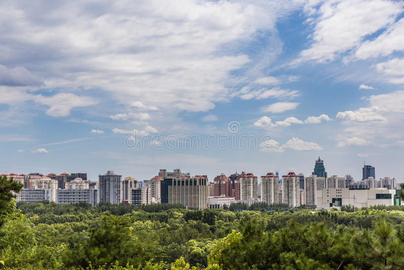 Взгляд горизонта Пекин стоковое изображение rf