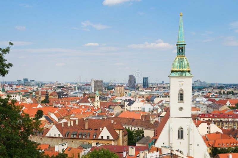 Взгляд города Братиславы стоковое фото rf