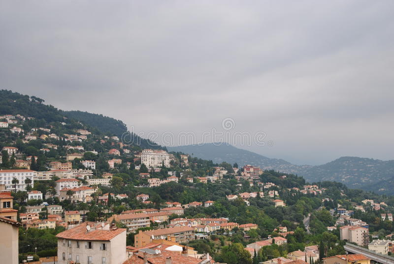 Взгляд города Грасс, Провансаль, Франция стоковая фотография rf