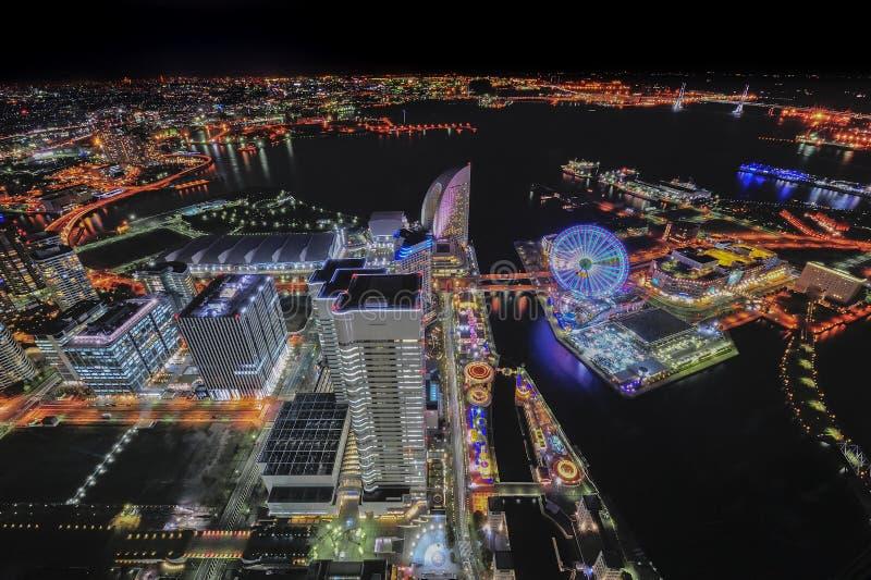 Взгляд города Иокогама сюрреалистический стоковая фотография rf
