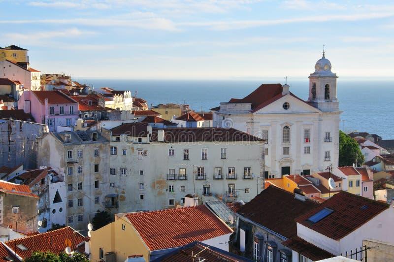 Взгляд города Лиссабона стоковые изображения rf