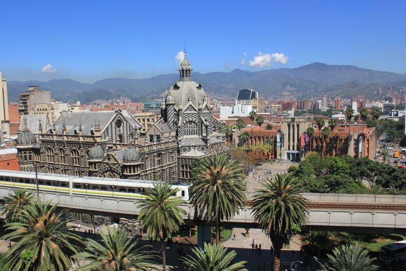 взгляд города панорамный Medellin, Колумбия стоковое фото rf