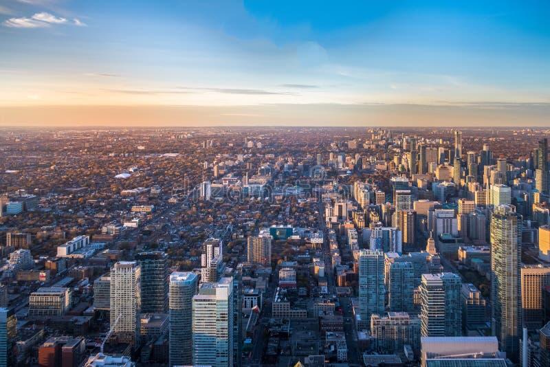 Взгляд города сверху - Торонто Торонто, Онтарио, Канады стоковое фото