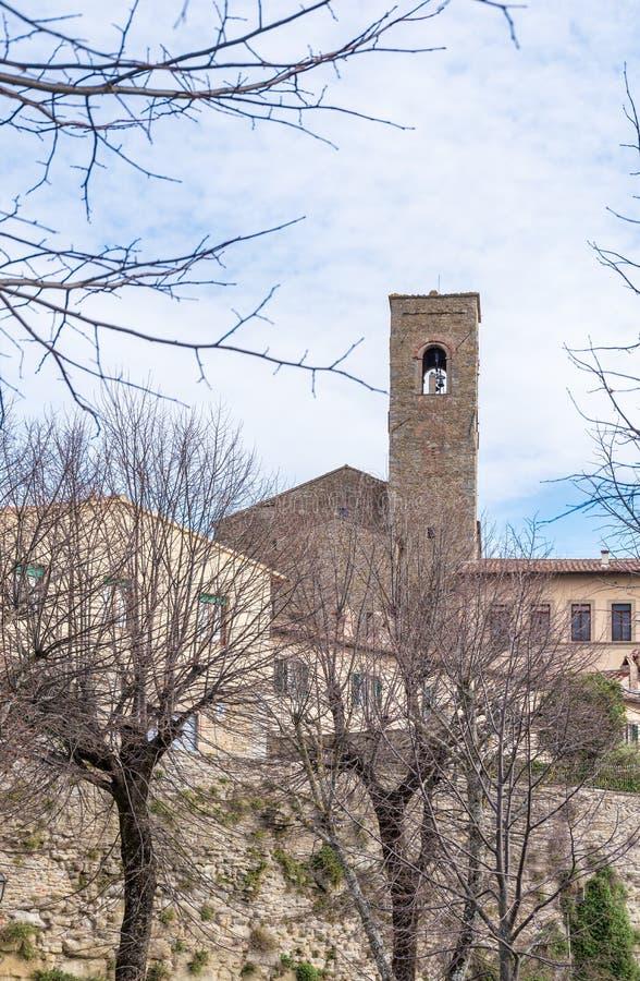Взгляд города Тосканы Cortona стоковая фотография rf