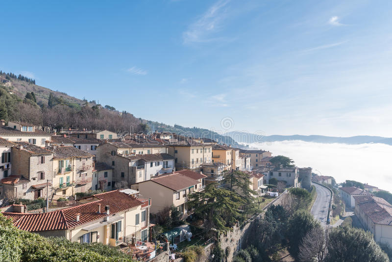 Взгляд города Тосканы Cortona стоковые изображения