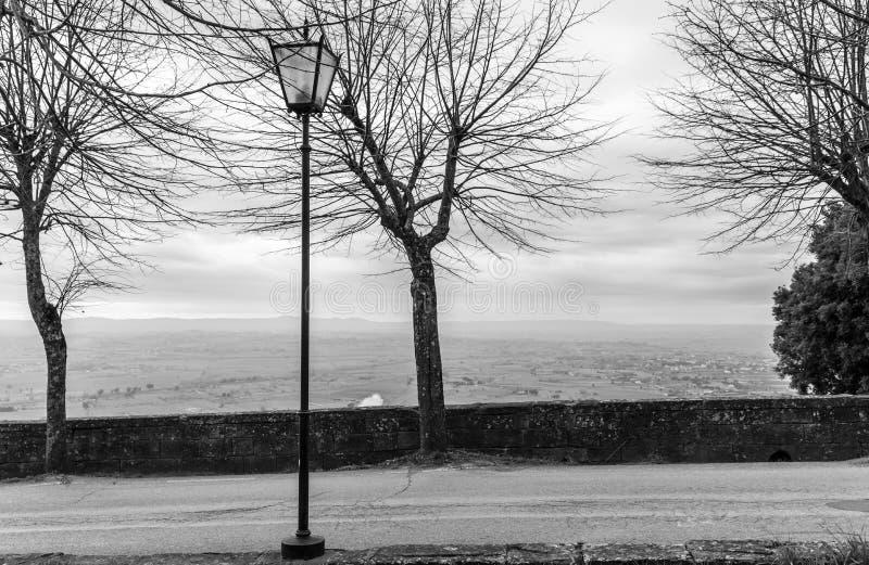 Взгляд города Тосканы Cortona стоковое изображение