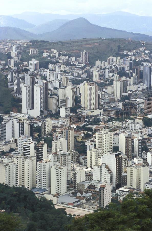 Взгляд города Juiz de Форума, мин Gerais, Бразилии стоковое изображение