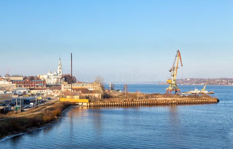 Взгляд города Kineshma, России стоковое изображение rf