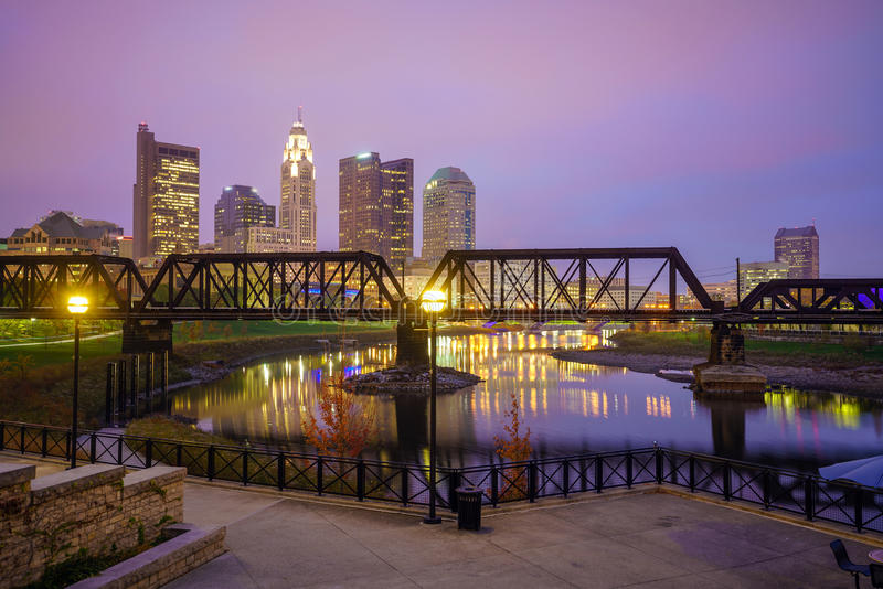 Взгляд городского горизонта Колумбуса Огайо стоковое изображение