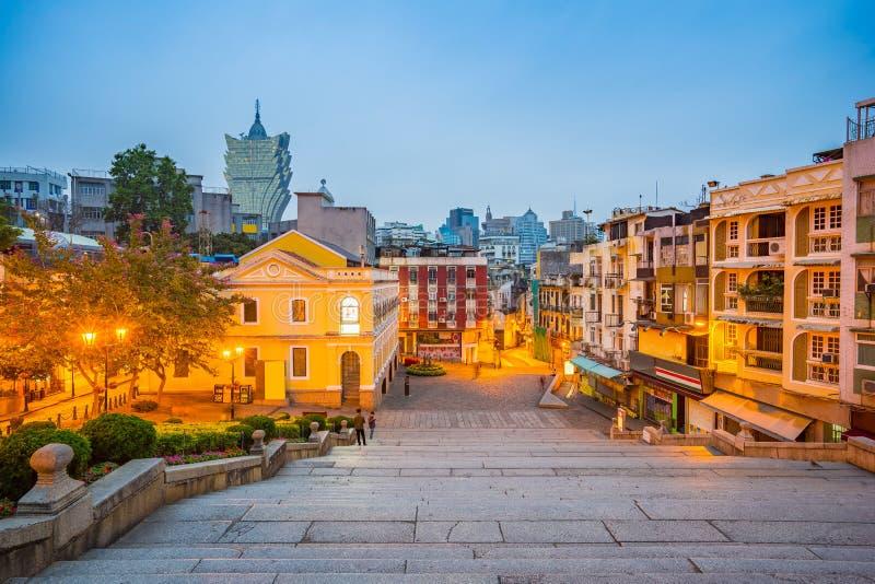 Взгляд городского пейзажа Макао, Китая стоковые изображения