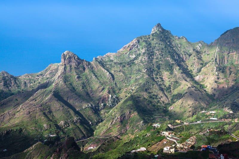 Взгляд горы в Taganan Anaga, Тенерифе, Европе стоковая фотография rf