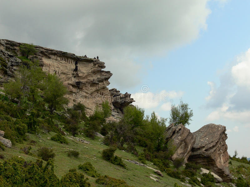 Взгляд гор Rhodope, Болгария стоковое фото rf