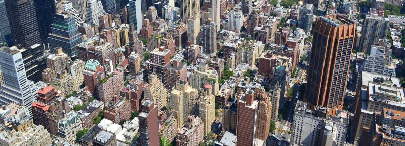 Взгляд глаза птицы Нью-Йорка стоковое изображение rf
