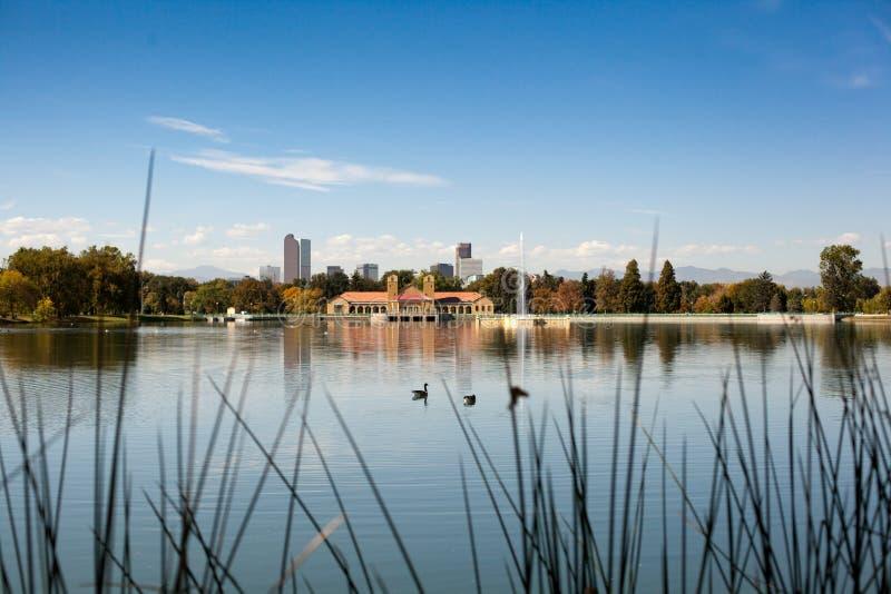 Взгляд Денвера Колорадо парка города стоковые фотографии rf