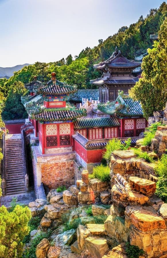Взгляд летнего дворца в Пекине стоковые фотографии rf