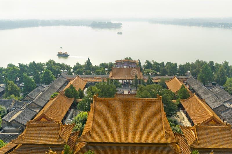 Взгляд летнего дворца императора на Пекине Китае стоковые фото