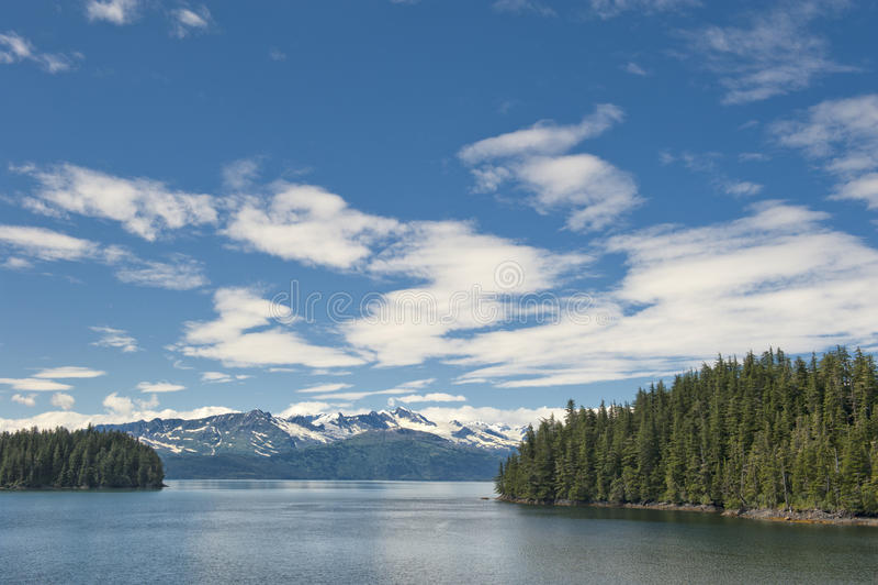 Взгляд ледника Аляски Prince William Sound стоковое изображение