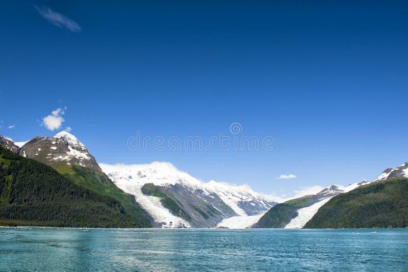 Взгляд ледника Аляски Prince William Sound стоковые фотографии rf