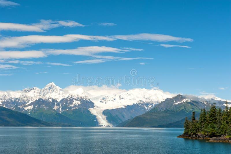 Взгляд ледника Аляски Prince William Sound стоковое фото rf