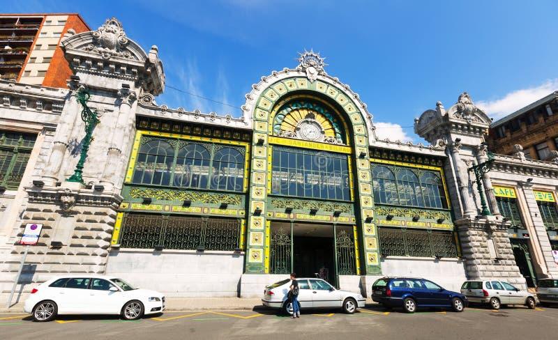 Взгляд железнодорожного вокзала в Бильбао стоковое фото
