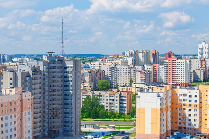Взгляд жилого района стоковые изображения rf