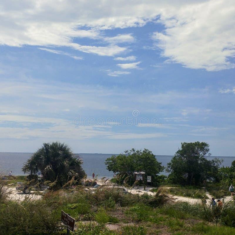 Взгляд захода солнца Флориды юго-западный, пляжи стоковое фото rf