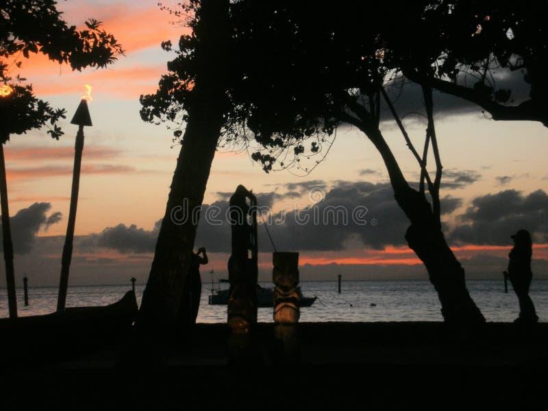 Взгляд захода солнца стоковое фото rf