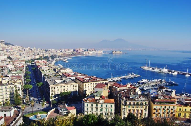 Взгляд залива Неаполь, Италии стоковая фотография rf
