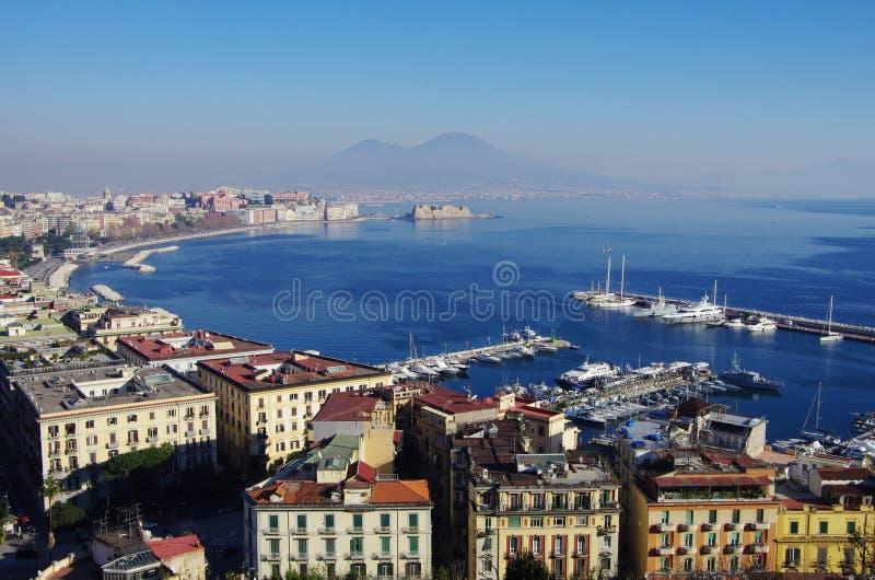 Взгляд залива Неаполь, Италии стоковые изображения