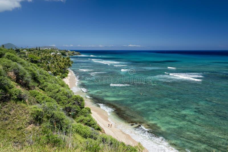 Взгляд залива hanauma Гаваи Оаху стоковое фото