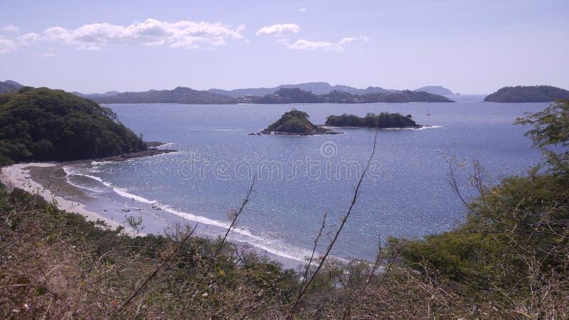 Взгляд залива Potrero, Тихоокеанское побережье, Коста-Рика стоковые изображения rf