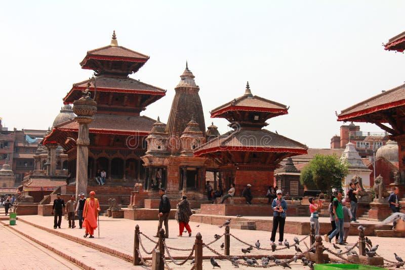 Взгляд квадрата Darbar, Patan, Катманду, Непала стоковые фото