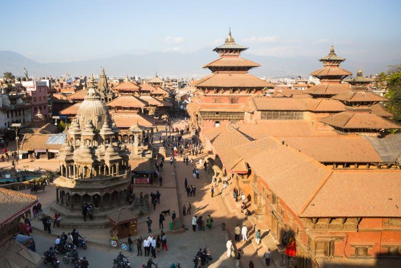 Взгляд квадрата Patan Durbar, в Катманду, Непал стоковое фото