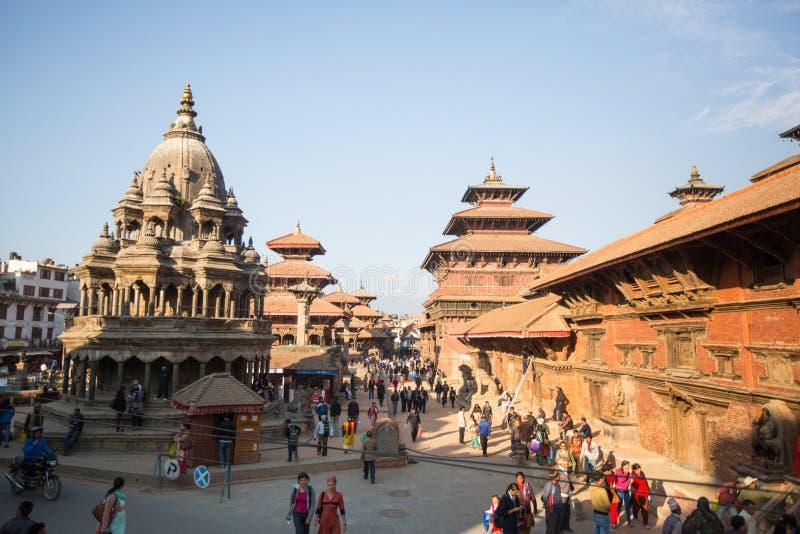Взгляд квадрата Patan Durbar, в Катманду, Непал стоковая фотография rf